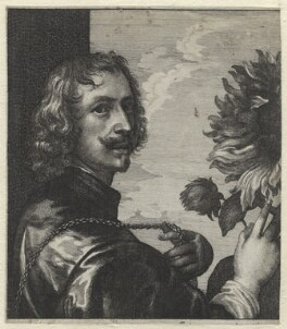 Sir Anthony van Dyck, by Wenceslaus Hollar, after  Sir Anthony van Dyck, 1644 - NPG D1326 - © National Portrait Gallery, London