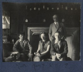 Mark Gertler; Mary Smith; Walter Taylor and an unknown man, by Lady Ottoline Morrell - NPG Ax141745