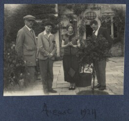 Walter Taylor; Mark Gertler; Mary Smith and an unknown man, by Lady Ottoline Morrell - NPG Ax141748