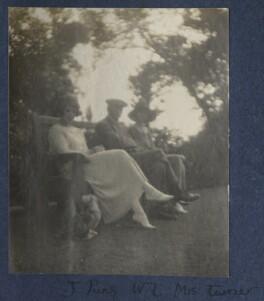 Julian Vinogradoff (née Morrell); Walter Taylor; Delphine Marguerite Turner (née Dubuis), by Lady Ottoline Morrell - NPG Ax141750