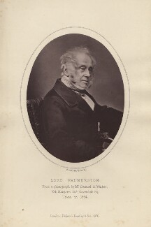 Henry John Temple, 3rd Viscount Palmerston, by Samuel Alexander Walker, published by  Richard Bentley - NPG x11964