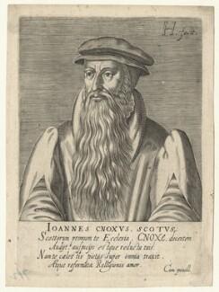 John Knox, by Hendrik Hondius (Hond), after  Adrian Vanson (van Son) - NPG D20939