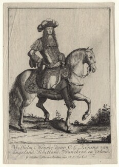 King William III, by Pieter Stevens (Stephani), published by  Nicolaes Visscher II - NPG D20945