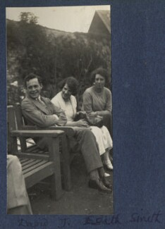 Hon. David John Smith; Julian Vinogradoff (née Morrell); Hon. Edith Mabell Emily Smith, by Lady Ottoline Morrell - NPG Ax141801
