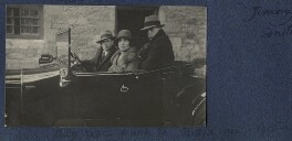 'Billy; Dede and David in Billy's new Austin', by Lady Ottoline Morrell - NPG Ax141803