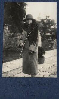 Elizabeth (née Asquith), Princess Bibesco, by Lady Ottoline Morrell, 1924 - NPG Ax141805 - © National Portrait Gallery, London