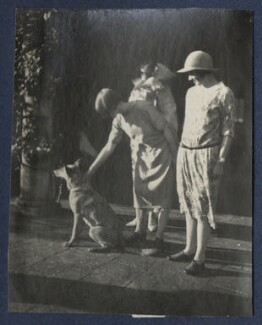 Perdita Rose Mary Jolliffe (née Asquith), Lady Hylton; Lady Ottoline Morrell; Lady Helen Frances Asquith, by Unknown photographer, September 1924 - NPG Ax141807 - © National Portrait Gallery, London
