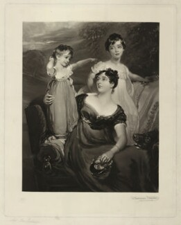 Lady Acland (Arthur Henry Dyke Acland; Lydia Elizabeth (née Hoare), Lady Acland; Sir Thomas Dyke Acland, 11th Bt), by (Richard) Wallace Hester ('W. Hester', 'Hester', 'WH' and 'WH-'), after  Sir Thomas Lawrence, Published 1903 (1818) - NPG D7159 - © National Portrait Gallery, London
