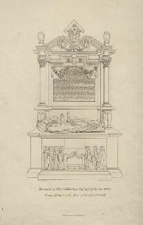 Monument of John Ashburnham Esq..re and his two wives, by Eugenio H. Latilla, published by  William Pickering, after  W.S. Wilkinson, published 1842 - NPG D7392 - © National Portrait Gallery, London