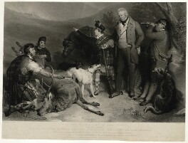 The Death of a Stag in Glen Tilt, by John Charles Bromley, after  Edwin Landseer - NPG D7516
