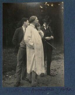 Sir Caspar John; Augustus John; Philip Edward Morrell, by Lady Ottoline Morrell, late 1924 - NPG Ax141838 - © National Portrait Gallery, London