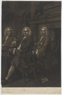 Benn's Club (Robert Alsop; William Benn; John Blashford), by John Faber Jr, after  Thomas Hudson, (1751-1752) - NPG D1517 - © National Portrait Gallery, London