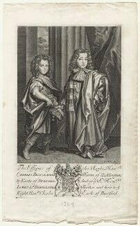 Charles Beauclerk, 1st Duke of St Albans; James Beauclerk, by Robert White - NPG D20979