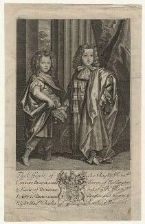 Charles Beauclerk, 1st Duke of St Albans; James Beauclerk, by Robert White - NPG D20980
