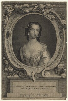 Sophia Carteret (née Fermor), Countess Granville, by Thomas Major, after  Christian Friedrich Zincke - NPG D21010