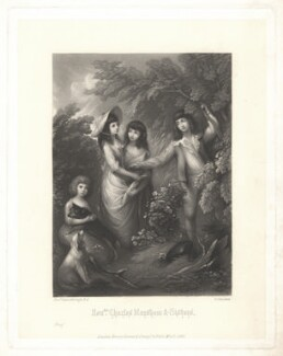 Honble. Charles Marsham & Sisters, by George Sanders, published by  Henry Graves & Co, after  Thomas Gainsborough - NPG D4113