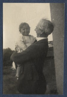 John Conrad Russell, 4th Earl Russell; Bertrand Russell, by Lady Ottoline Morrell - NPG Ax141937