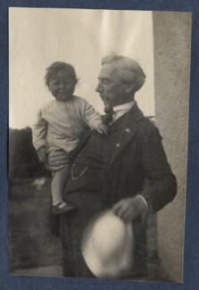 John Conrad Russell, 4th Earl Russell; Bertrand Russell, by Lady Ottoline Morrell - NPG Ax141939