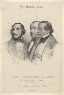 The Musical Union (Heinrich Wilhelm Ernst; Henri Vieuxtemps; Bernhard Molique), by Charles Baugniet - NPG D2117