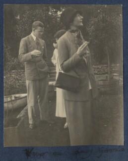 Igor Vinogradoff; Julian Vinogradoff (née Morrell); Lady Gwendeline Theresa Mary Spencer Churchill (née Bertie), by Lady Ottoline Morrell, late 1924 - NPG Ax141964 - © National Portrait Gallery, London
