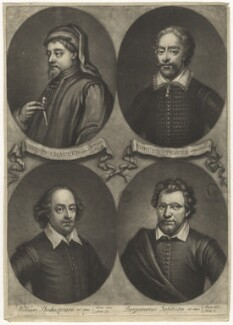 'Poets and Philosophers of England', by John Simon, mid 18th century - NPG D3192 - © National Portrait Gallery, London