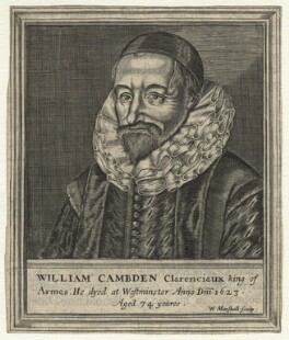 William Camden, by William Marshall, after  Unknown artist - NPG D21089
