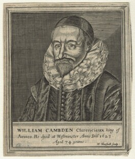 William Camden, by William Marshall, after  Unknown artist - NPG D21090