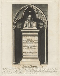 Monument to William Camden in Westminster Abbey, by John Thomas Smith - NPG D21099