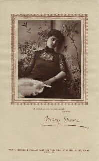 Mary Moore, by Herbert Rose Barraud, published by  Carson & Comerford - NPG x21403
