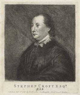 Stephen Croft, by C. Carter, after  Sir Joshua Reynolds - NPG D21086