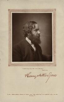 Henry Arthur Jones, by Herbert Rose Barraud, published by  Carson & Comerford - NPG x18893