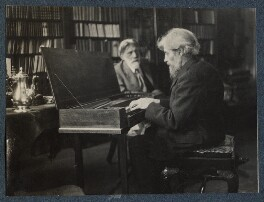'Robert Bridges and Arnold Dolmetsch on the day of the presentation of the clavichord', by Lady Ottoline Morrell - NPG Ax142020