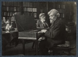 'Robert Bridges and Arnold Dolmetsch on the day of the presentation of the clavichord', by Lady Ottoline Morrell - NPG Ax142021
