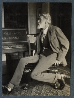 'The Poet Laureate' (Robert Bridges), by Lady Ottoline Morrell - NPG Ax142024