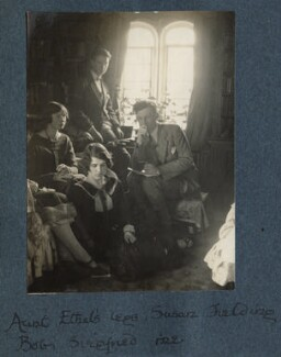 'Aunt Ethel's legs, Susan Feilding, Bob, Siegfried and me', by Lady Ottoline Morrell - NPG Ax142027