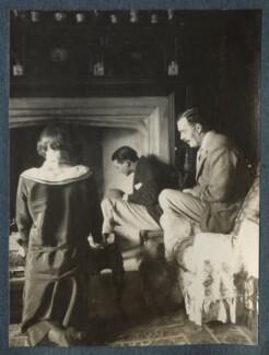 Julian Vinogradoff (née Morrell); Bob Gathorne-Hardy; L.P. Hartley, by Lady Ottoline Morrell - NPG Ax142032