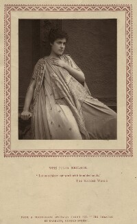 Julia Emilie Neilson as Selene in 'The Wicked World', by Herbert Rose Barraud, published by  Strand Publishing Company - NPG x21477