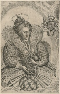 Queen Elizabeth I, by Francis Delaram, after  Nicholas Hilliard, published 1630 - NPG D21052 - © National Portrait Gallery, London