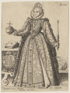 Queen Elizabeth I, by and published by Christoffel van Sichem (Voschem), after  Unknown artist - NPG D21059