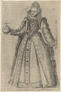 Queen Elizabeth I, by Christoffel van Sichem (Voschem), after  Unknown artist - NPG D21060