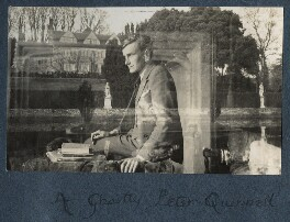 'A ghostly Peter Quenell' (Sir Peter Courtney Quennell), by Lady Ottoline Morrell - NPG Ax142054