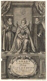 Queen Elizabeth I; William Cecil, 1st Baron Burghley; Sir Francis Walsingham, by William Faithorne, published 1691 - NPG D21065 - © National Portrait Gallery, London