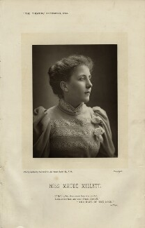 Maude Millett (Mrs Tennant), by Alfred Ellis, published September 1893 - NPG  - © National Portrait Gallery, London