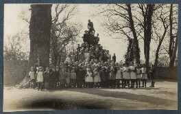 'School children on the cross at Garsington', by Lady Ottoline Morrell - NPG Ax142067
