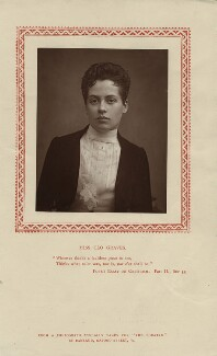 Clo Graves, by Herbert Rose Barraud, published by  Strand Publishing Company, published 1 May 1888 - NPG x16888 - © National Portrait Gallery, London