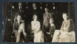 Philip Edward Morrell with friends, by Lady Ottoline Morrell - NPG Ax142085
