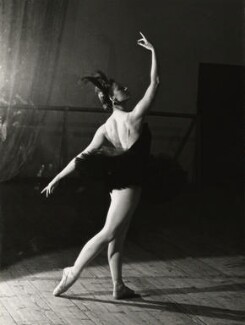 Maya Plisetskaya as Odile in 'Swan Lake', by Ida Kar, circa 1960 - NPG  - © National Portrait Gallery, London