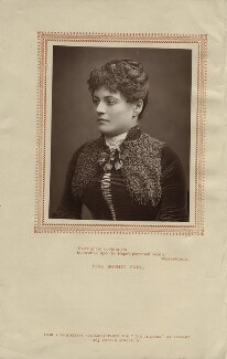 Sophie Eyre (née Ryan), by Herbert Rose Barraud, published by  Carson & Comerford, published 1 May 1887 - NPG x17219 - © National Portrait Gallery, London