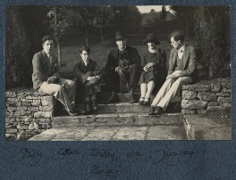 'Billy, Colin, daddy with pung, me and Jimmy', by Lady Ottoline Morrell - NPG Ax142087