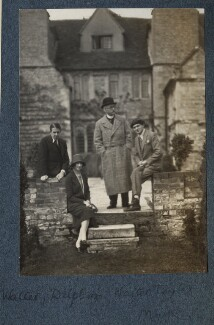 Walter James Redfern Turner; Delphine Marguerite Turner (née Dubuis); Walter Taylor; Mark Gertler, by Lady Ottoline Morrell - NPG Ax142097
